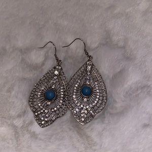 Boho style turquoise earrings